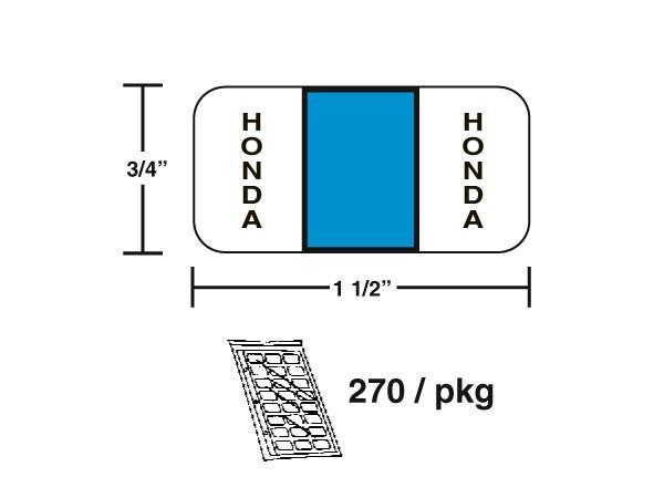 M-R608H - Honda Sky Blue Color Coded Label